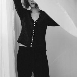 Zara textured weave blouse